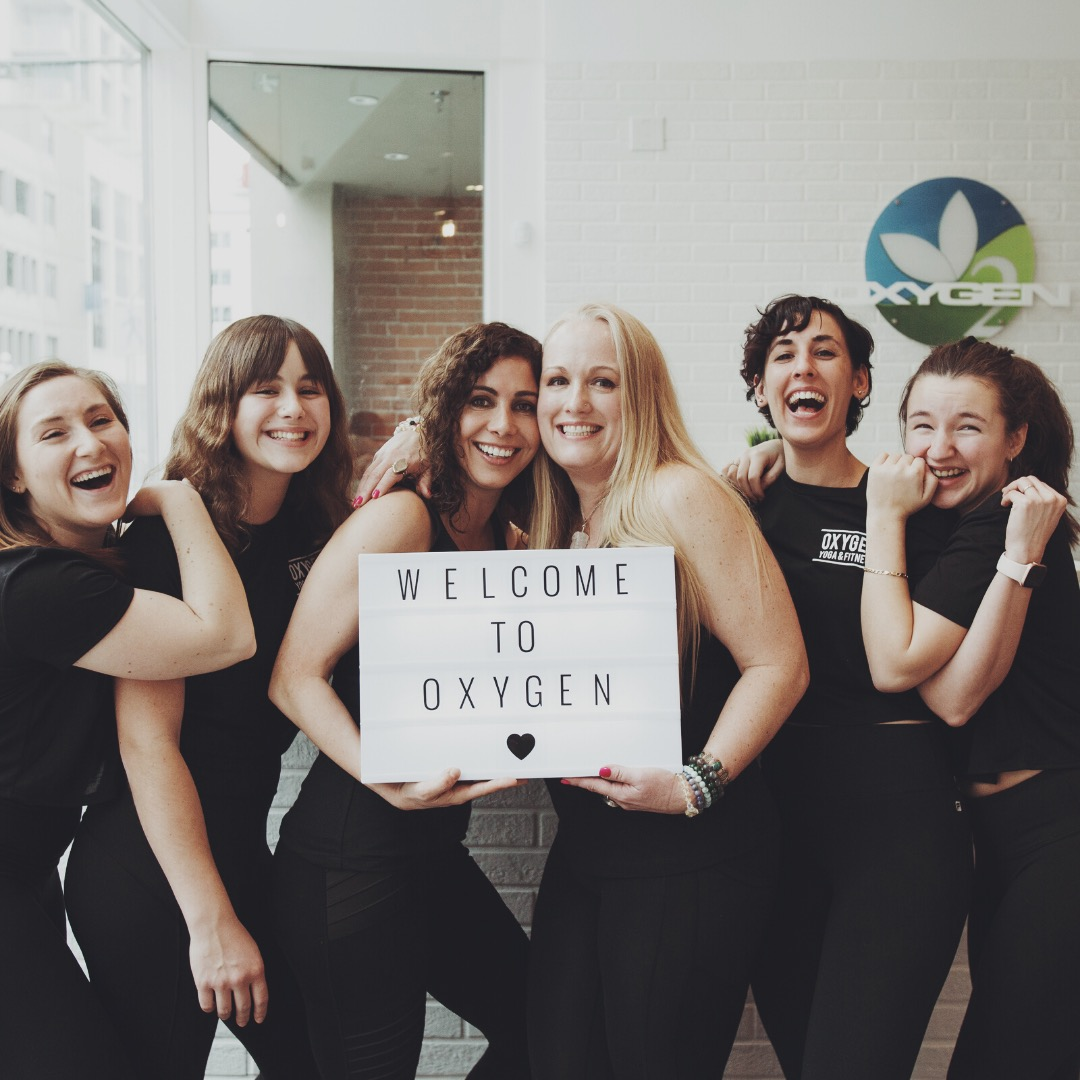 Women with Oxygen sign