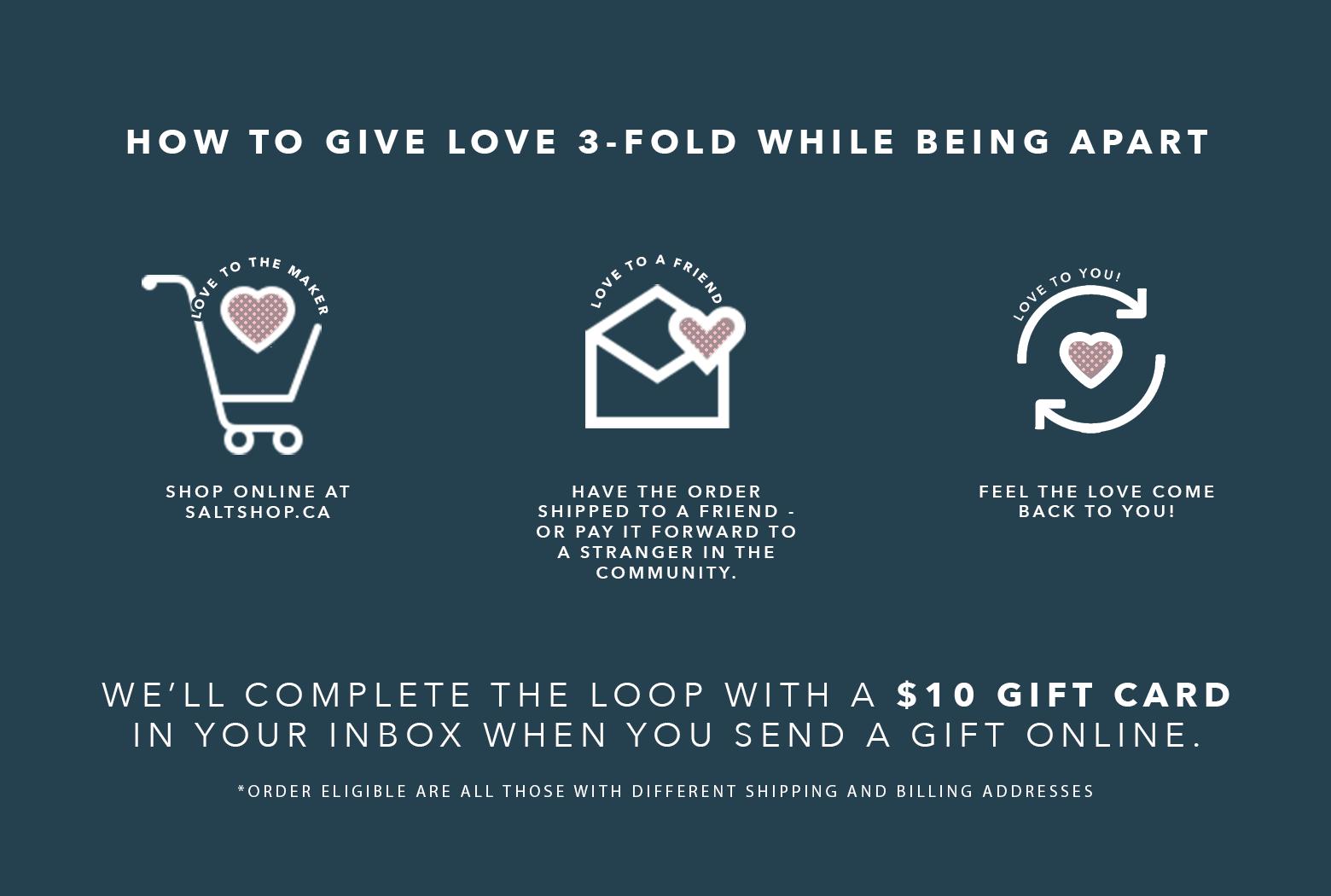 SALT Shop Give Love Poster